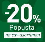 -20% popusta na SVE!