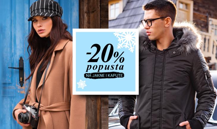 -20% popusta na kapute i jakne!