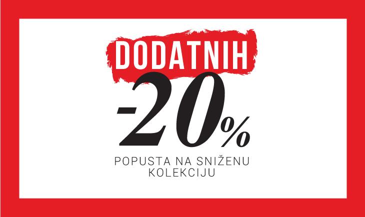 Dodatnih -20% na sniženi dio kolekcije JZ19