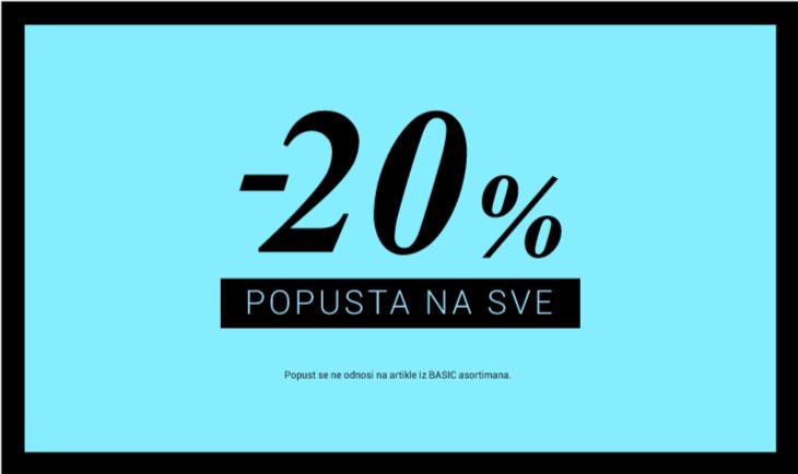 -20% na SVE!