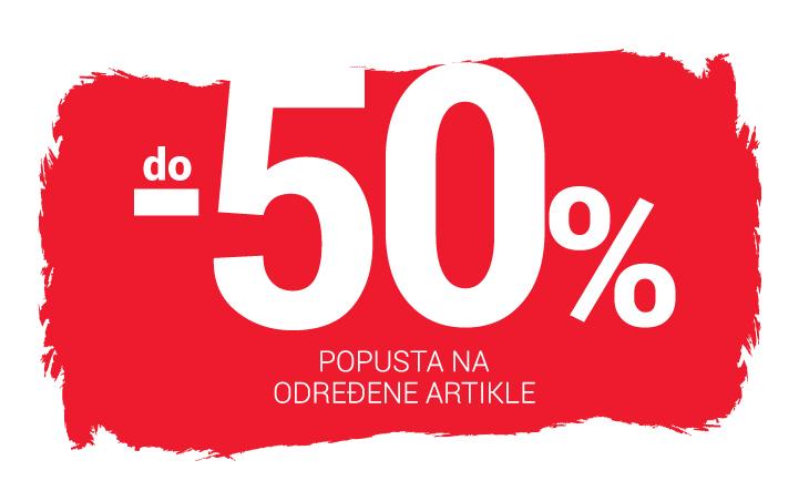-30% do -50% popusta na određene artikle