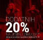 Dodatnih -20% na WEB shop-u