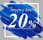 Shopping dani -20% popusta