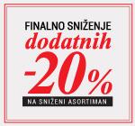 Dodatnih -20% na sezosnsko sniženje