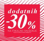 Finalno sniženje! Dodatnih -30% u maloprodajama!