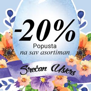 Uskršnja akcija -20% na sve