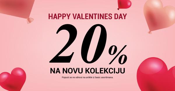 -20% na NOVU KOLEKCIJU I Happy Valentine's day! <3