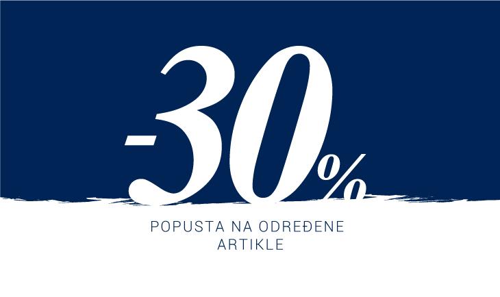 -30% na sniženje
