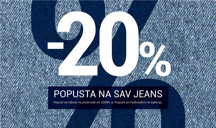 -20% popusta na sav jeans