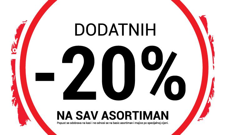 -20% popusta na sve