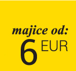 Majice od 6 eur - samo na web shop-u