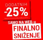 Dodatnih -25% SAMO NA WEB SHOP-u!
