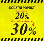 Akcija u maloprodaji na Bulevaru! 1x20% 2x30%