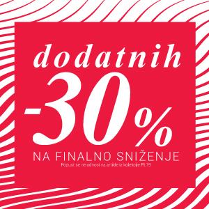 Dodatnih -30% na SVE!