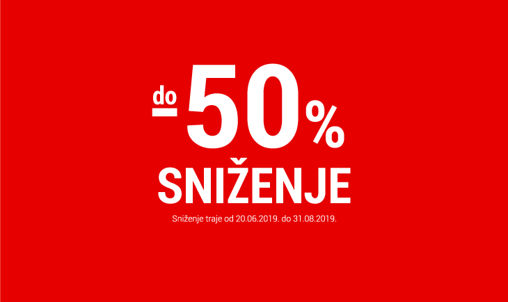 Sezonsko sniženje do -50%