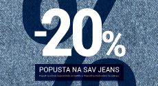 20% na sav jeans asortiman
