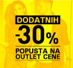 Dodatnih -30% na OUTLET
