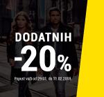 Dodatnih -20% na određene grupe proizvoda