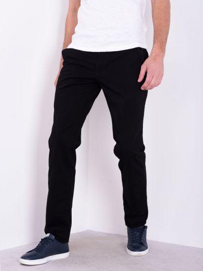 Crne pantalone sa kosim džepovima