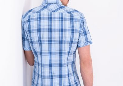 Plava karirana košulja