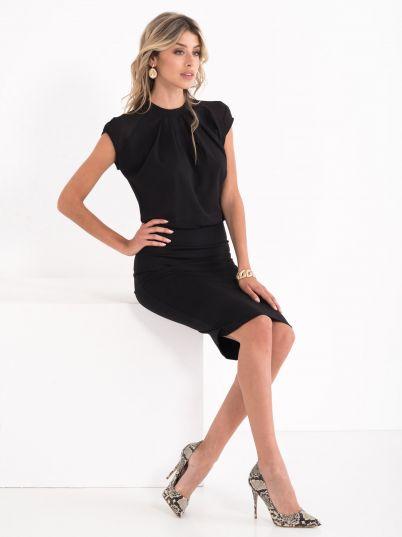 Casual biznis crna haljina