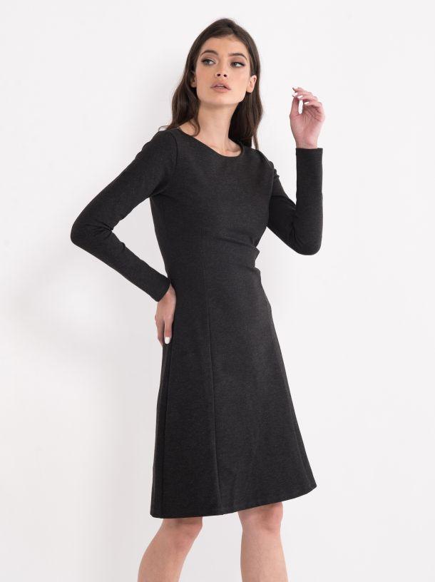Siva haljina dugih rukava