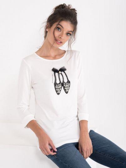 Majica sa biserima