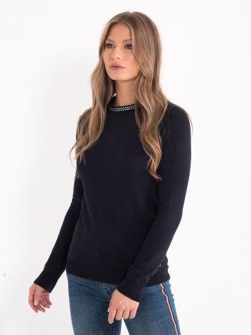 Džemper sa ušivenom ogrlicom