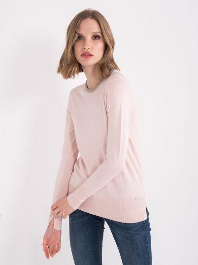 Džemper sa raskošnom ogrlicom