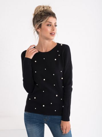 Džemper sa perlicama