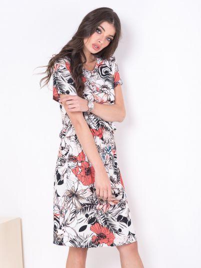 Haljina sa floralnim dezenom