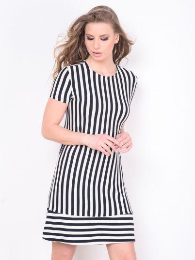 Crno bela haljina