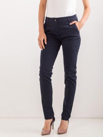 Kariraste hlače temnomodre barve