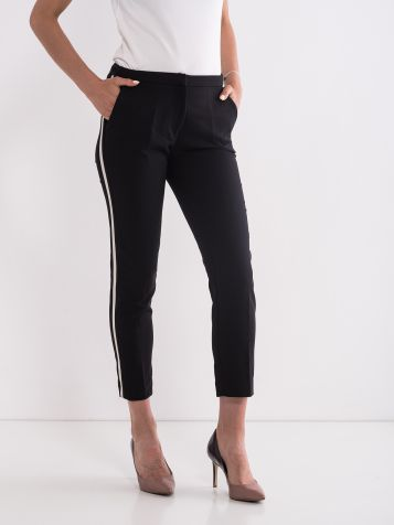 Biznis pantalone sa trakom crne