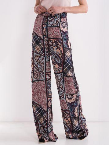 Pisane zvončaste hlače