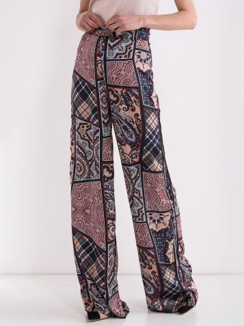 Zvonaste pantalone šarene