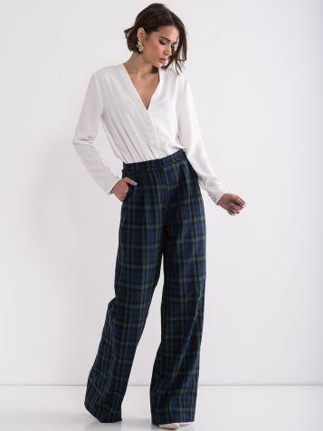 Ženske karo pantalone