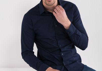 Basic košulja teget