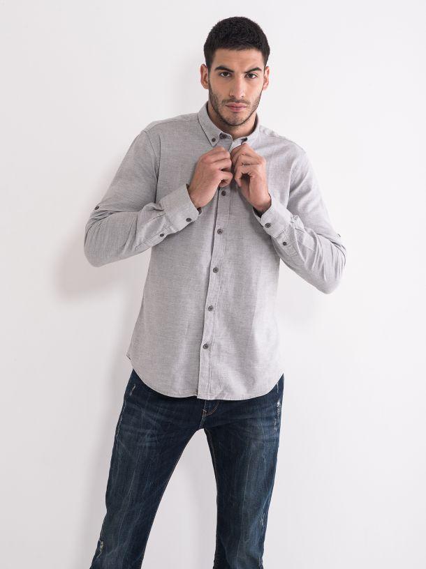 Svijetlo siva muška košulja