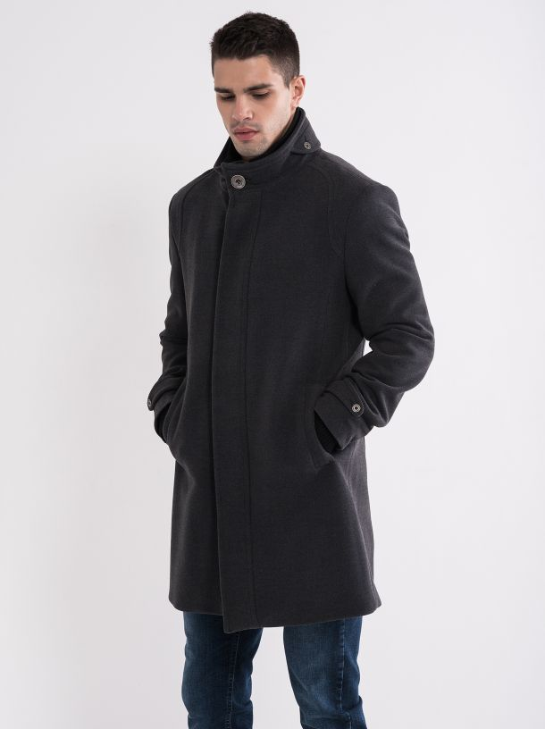 Muški sivi kaput