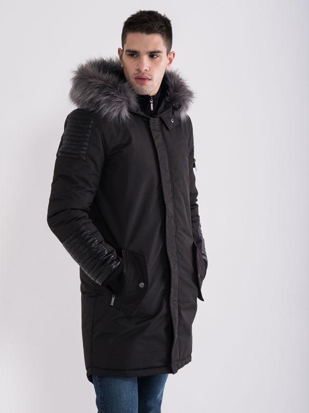 Muška zimska jakna sa krznom