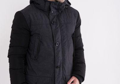 Muška zimska jakna sa kapuljačom