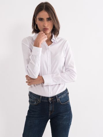 Ženska basic srajca bela