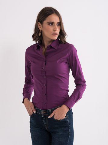 Ženska basic srajca vijolična