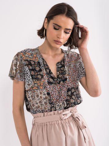 Lepršava šarena bluza