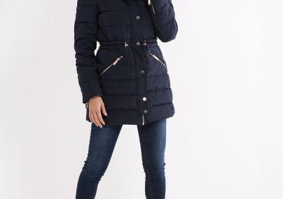 Ženska štepana jakna teget