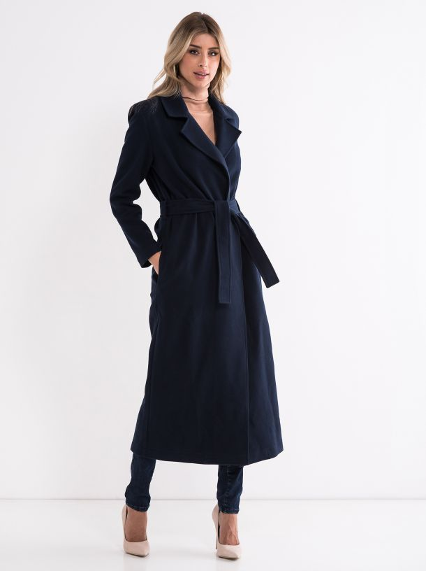 Moderan ženski kaput teget