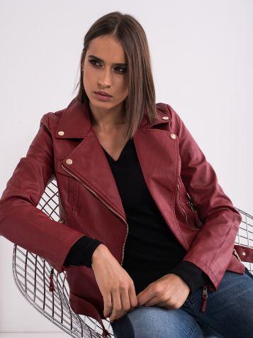 Temnordeča ženska jakna