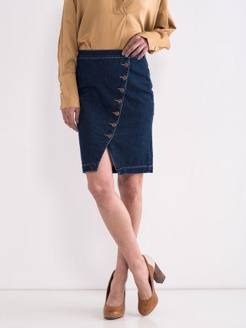 Džins suknja sa dugmićima