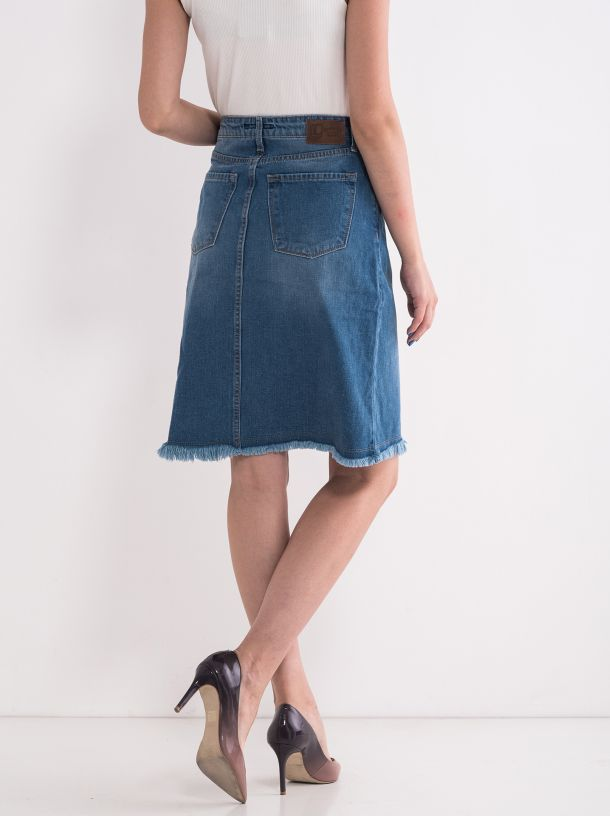 Jeans suknja sa izrezom